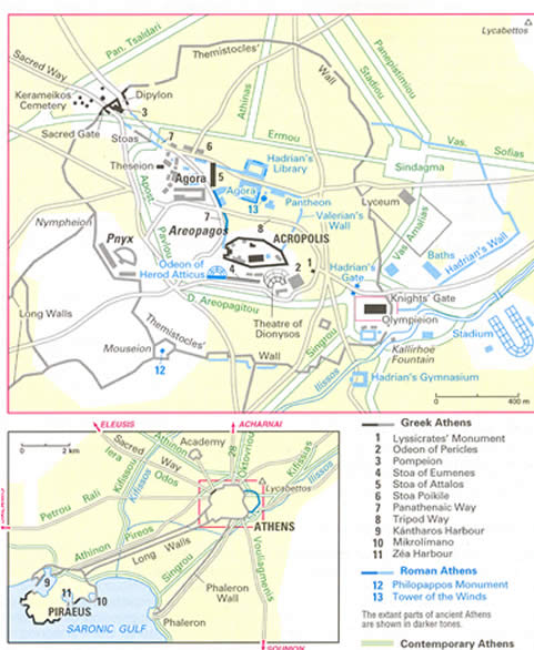 map ancient athens