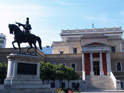 The National History Museum with Strategos   Kolokotonis on horseback