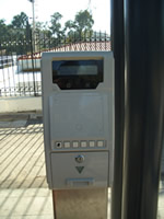 a ticket validator machine in Syntagma for the tram