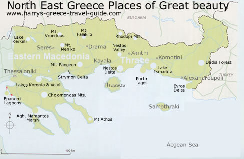 map of north eastern greece