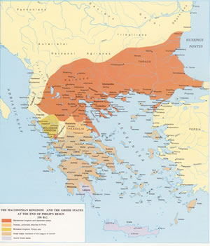 click to see larger map Macedonia