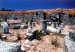 the remains of the anicent agora