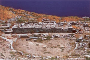 the hellenistic theater of ancient thira
