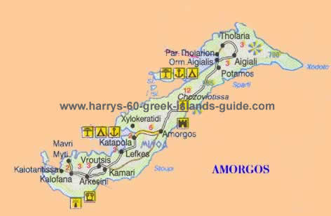 Click for the guide - map greek island of amorgos