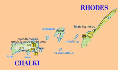 Halki greek island map