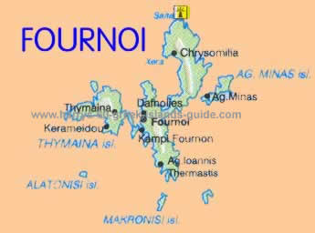 map greek island fournoi