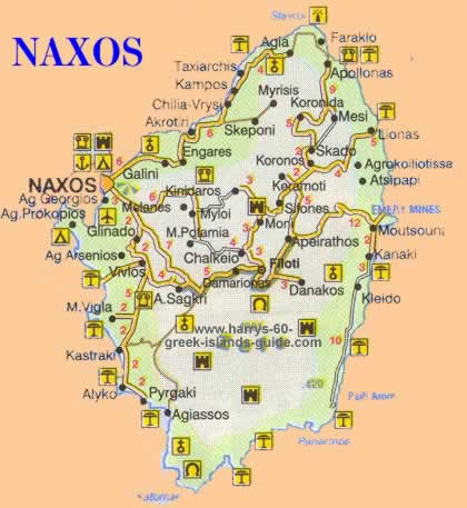 greece travel map naxos greek island