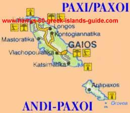 greece travel map paxi greek island