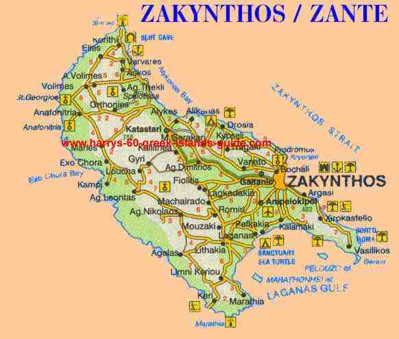 greece travel map zakynthos