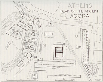 click to see larger athenian agora map