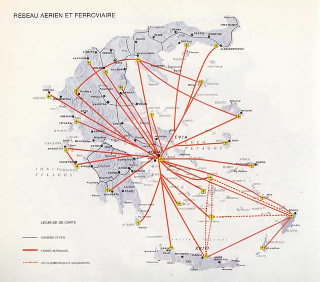 airports in greece map