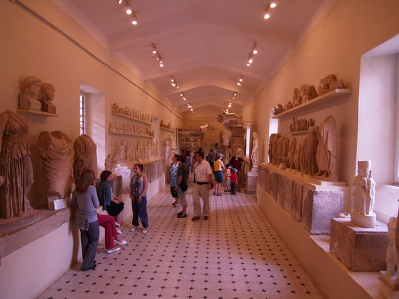 Main hall of museum of theater of Epidavros