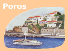 The 1 day cruise goes to Poros pictured here