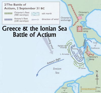 battle map actium sea battle