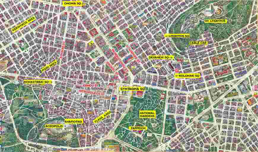 Click to seel larger: Athens Greece Map